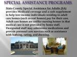 special assistance programs