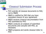 closeout submission process