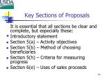 key sections of proposals
