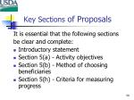 key sections of proposals59