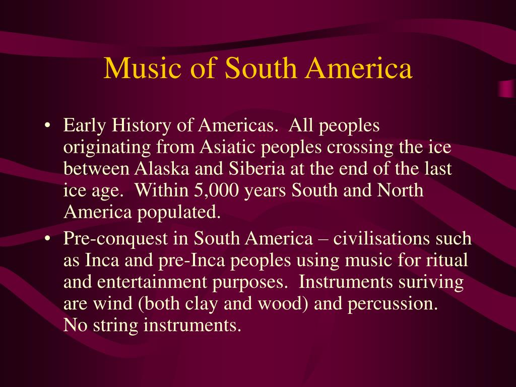 music of south america l.
