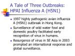 a tale of three outbreaks hpai influenza a h5n1