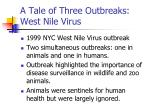 a tale of three outbreaks west nile virus