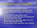 taking action self motivation