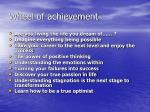 wheel of achievement