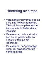 hantering av stress