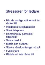 stressorer f r ledare