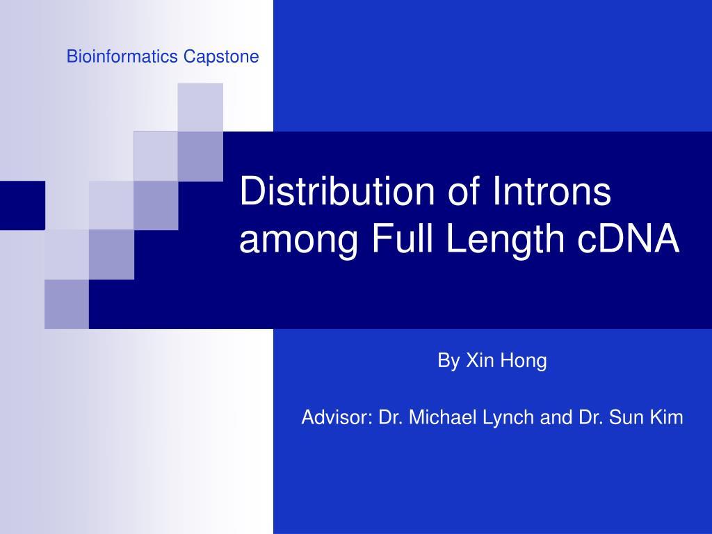 distribution of introns among full length cdna l.
