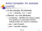 action template an example cont d