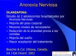 a norexia nerviosa