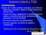 autismo infantil y tgd40
