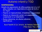 autismo infantil y tgd41