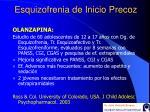 esquizofrenia de inicio precoz28