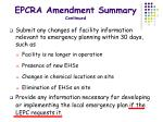 epcra amendment summary continued