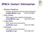 eprca contact information