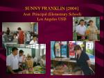 sunny franklin 2004 asst principal elementary school los angeles usd