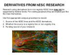derivatives from hesc research