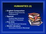 humanities 6