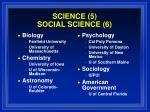 science 5 social science 6