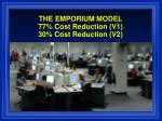 the emporium model 77 cost reduction v1 30 cost reduction v2