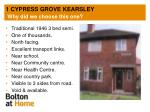 1 cypress grove kearsley why did we choose this one