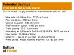 potential savings price per tonne of c02 saved