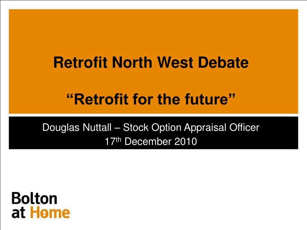 retrofit north west debate retrofit for the future l.