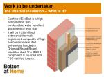 work to be undertaken the internal insulation what is it