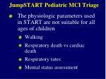 jumpstart pediatric mci triage50