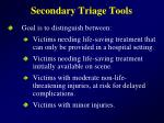 secondary triage tools