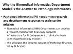 why the biomedical informatics department model is the answer to pathology informatics