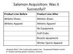 salomon acquisition was it successful