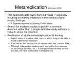 metareplication johnson 2002