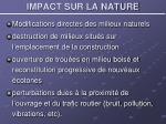 impact sur la nature