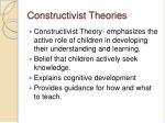 constructivist theories8