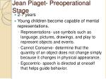 jean piaget preoperational stage