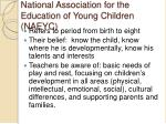 national association for the education of young children naeyc
