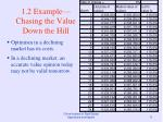 1 2 example chasing the value down the hill11