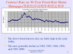 contract rate on 30 year fixed rate home mortgages