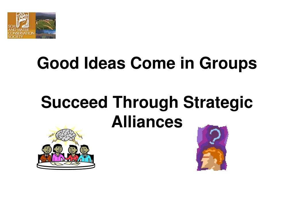 Good Ideas Come in Groups