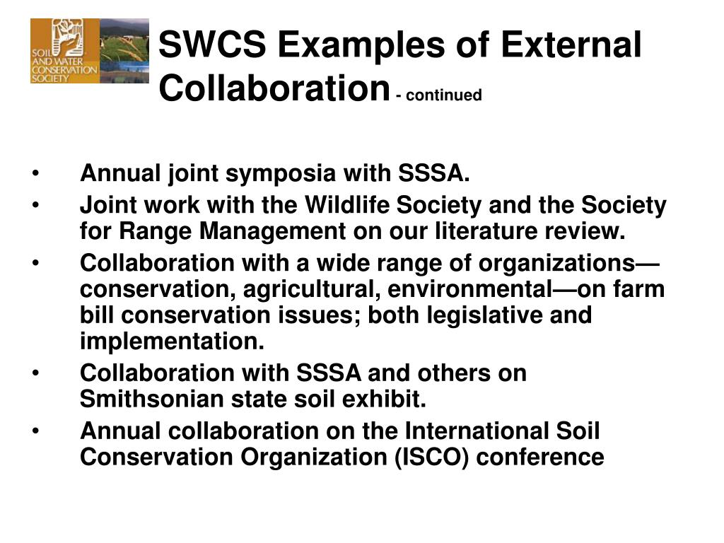 SWCS Examples of External Collaboration