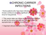 chronic carrier infections