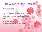 evasion of host defenses