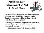 postsecondary education the not so good news8