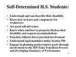 self determined h s students