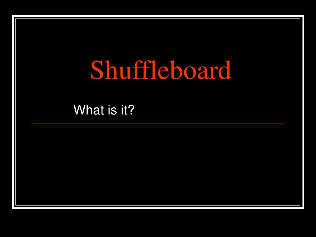 shuffleboard l.