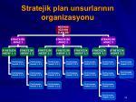 stratejik plan unsurlar n n organizasyonu