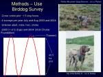 methods use birddog survey