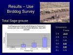 results use birddog survey