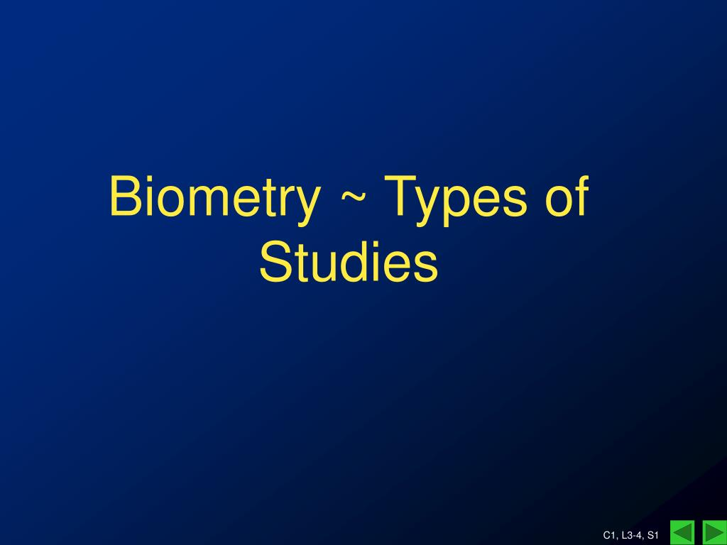 biometry types of studies l.